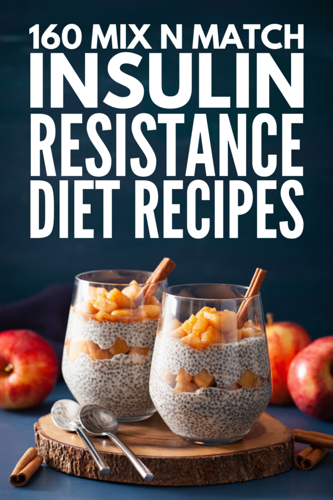 30-Day Insulin Resistance Diet Plan | If you're looking for food lists, recipes, and a menu plan to help you create meals for breakfast, lunch, dinner, dessert, and snacks that help with insulin resistance, we've curated 30 days of recipes to keep your insulin and blood sugar in check. We've included a range of recipes from different dietary needs, including low carb, keto, paleo, vegetarian, and vegan options. If you want to lose weight, these recipes are a great place to start!