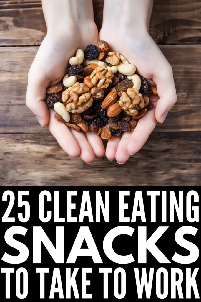 25 Filling Make Ahead Snacks for Work | If you're looking for healthy snacks you can take to work to help you stick to your weight loss goals, these easy clean eating ideas will not disappoint! You can meal prep these to freeze and then use them as needed throughout the week, and they double as the perfect traveling snacks for business trips, for camping with kids, and everything in between. High in protein, low in carbs, with a dash of health fats, these snacks are so tasty!