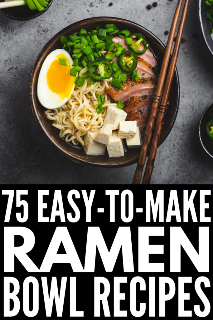 75 Quick and Easy Instant Ramen Recipes | If you're looking for simple and easy hacks to help you upgrade a packet of instant ramen noodles, we've curated 75 of the best recipes for every palette! From soups and vegetarian recipes, to meals made with chicken, pork, and beef, these ramen recipes are equal parts easy and delicious. Whether you like your ramen spicy, with eggs, healthy, or with a classic Korean flare, these recipes will not disappoint!