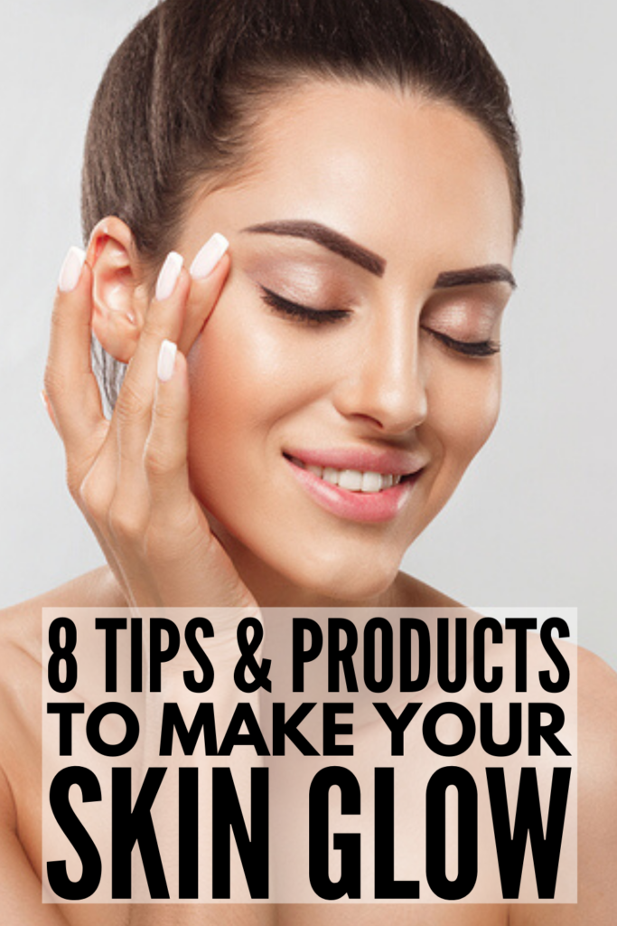 8 Glowing Skin Tips | If you want to know how to get glowing skin naturally at home, we're sharing our best tips and products! We all know that removing makeup at night is key for clear skin, but these beauty secrets and skincare tips go above and beyond. We're sharing common skincare mistakes to avoid, along with daily skincare routines for a clear complexion that glows from the inside out!