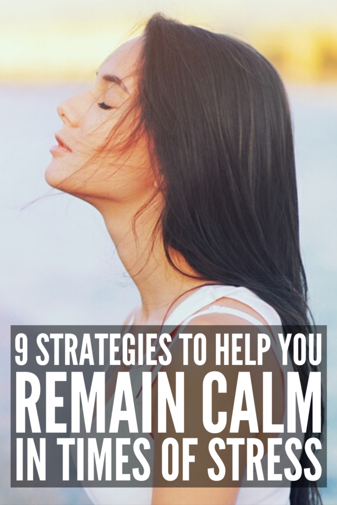 How to Stay Calm in a Stressful Situation | If you're looking for tips and strategies to help you stay calm in any situation (when stressed, when angry, when nervous, as a parent, in a crisis, etc.), we're sharing 9 stress management tips that help. Learn how to stop anxious thoughts in their tracks, what to do when things are out of your control and you feel overwhelmed, and how to be less stressed in the face of adversity moving forward.