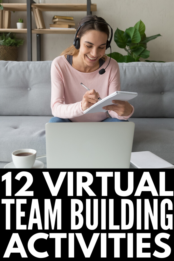 Virtual Team Building Activities and Games | Working from home has its perks, but personal connections, company morale, and group productivity can suffer when working remotely. If you're looking for ice breakers and team building activities for coworkers you can use to keep your team members engaged, these fun games and challenges will inspire you! If you want to know how to build a positive team culture with your employees, these ideas are perfect!