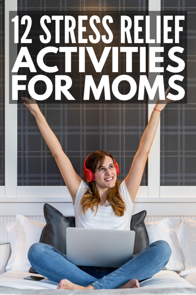 12 Stress Relief Activities for Moms Who Feel Overwhelmed | If you're looking for quick and simple calming activities to help you destress, we're sharing 12 fun and creative ways to relax. This list includes things you can do on your own, as well as fun ideas you can do with your kids to help you reset when emotions are high. These also double as anger management activities for women!