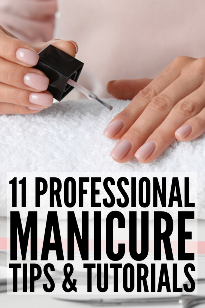 5 DIY Manicure Tutorials | If you're looking for tips and tricks and the best step by step tutorials to teach you how to get a professional looking manicure at home, this post is for you! Whether you're looking for an easy manicure for short nails, want to know how to do a French manicure on your own nails, how to give yourself the perfect gel nail polish job, or you're looking for some nail art inspiration, these manicure hacks and videos are full of ideas for a beautiful manicure that lasts!