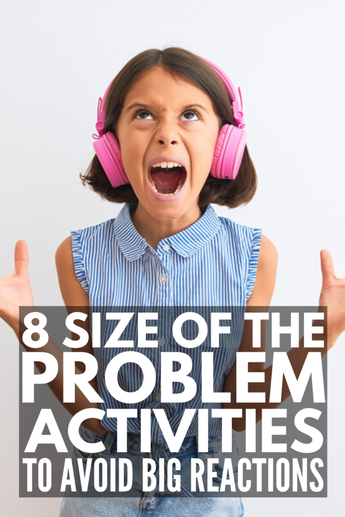 8 Size of the Problem Activities for Kids | Inspired by the Social Thinking and Zones of Regulation curriculums, these games and activities teach children to identify whether a problem is small, medium, or big, as well as what is and is not an appropriate reaction to each. With visual tools, posters for class bulletin boards, scenario cards, worksheets, coloring pages, Google slides, boom cards, and puzzles, this collection of activities has it all - even Size of the Problem BINGO!