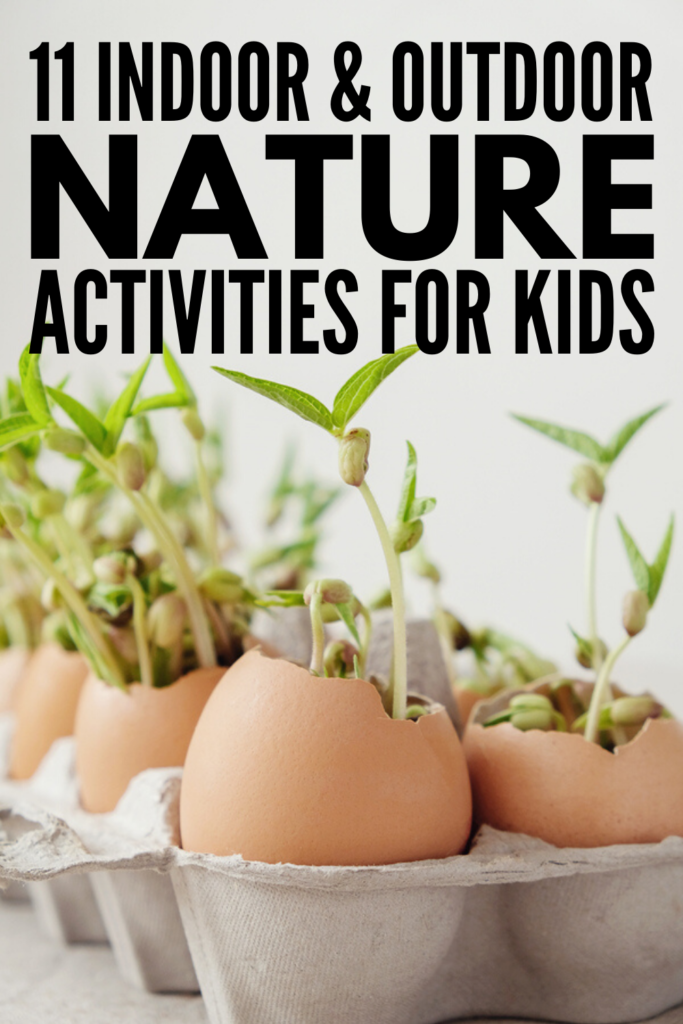 11 Nature Activities for Kids | If you'e looking for fun indoor and outdoor nature activities you can enjoy with your little ones year-round, we've got 11 ideas to inspire you! Whether you're going on a nature walk or spending time in the backyard, we've included ideas for spring, summer, fall, and winter. Perfect for teaching STEM and science lessons while also getting some vitamin D and burning energy, these activities compliment classroom lesson plans and make great family activities too!