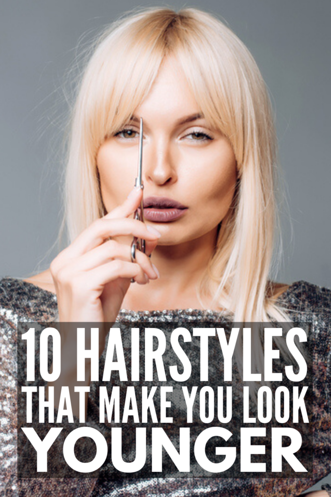 10 Hairstyles That Make You Look Younger | While anti aging products can help with wrinkles and fine lines, did you know that the cut and color of your hair can knock 10 years (or more) off your look? Perfect for gals over 50 - and even older women - these hairstyles will make you look and feel younger! Should you go with bangs? Long layers? Curly hair? A bob? A lob? We've got all the secrets, along with the best hair colors to hide wrinkles and make your skin glow!