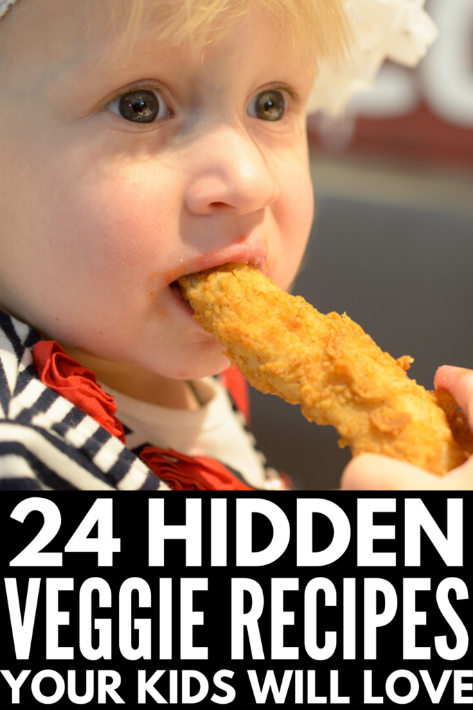 24 Hidden Veggie Recipes for Kids | If you're looking for healthy recipes for kids who are picky eaters and refuse to eat vegetables, we're sharing the best of the best! With tons of options for breakfast, lunch, dinner, snacks, and dessert, you'll learn simple and creative ways to hide vegetables in your cooking and baking! Clean eating for families with kids has never been easier or tasted so good!