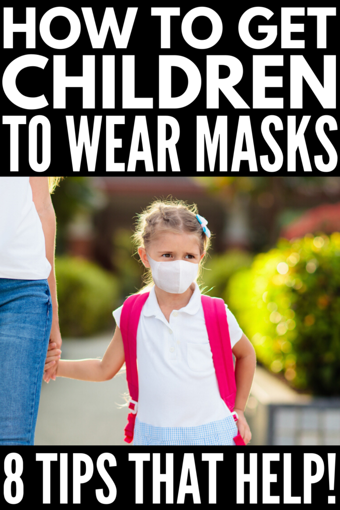 How to Get Kids to Wear a Face Mask | There are so many templates, patterns, and DIY tutorials to teach you how to make face masks for kids - some without sewing! - but many parents are struggling to figure out how to get kids to wear masks once they have them. In an age of social distancing, face masks are often a requirement, which can be a nightmare for children, especially those with sensory processing disorder and challenges. Check out our tips to get kids comfortable with face masks!