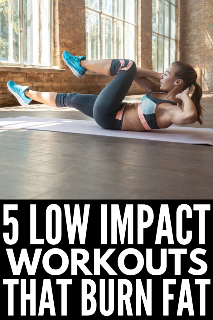 5 Fat-Burning Low Impact Workouts for Beginners | If you're looking for workouts you can do at home that aren't high intensity, but will still allow you to break a sweat, burn calories, and burn fat, these full body low impact exercises are for you! Whether you're new to fitness, recovering from an injury, have bad knees, bad hips, or a bad back, or you're looking for workouts you can do after surgery, these are the best of the best!