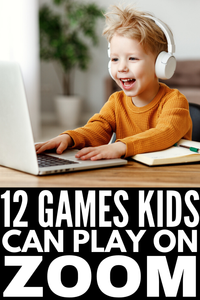 12 Zoom Games for Kids | If you're looking for easy games and activities your kids can play online with their friends, we've got 12 ideas to inspire you! These ideas are perfect for virtual kids birthday parties, playdates, and classroom group Zoom calls. From interactive scavenger hunts, to silly 'would you rather' games, and so much more, these online games for kids are easy to setup, free, and fun!