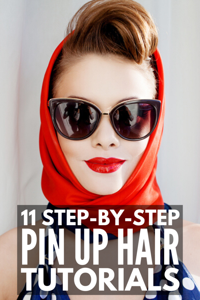 11 Pin Up Hairstyles For All Hair Lengths | If you love 1940s vintage hairstyles, these step by step pin up hair tutorials will not disappoint! From pin curls for short hair, to 1940s headscarf hairstyles, to vintage waves for medium length hair, to pin up hairstyles with a bandana, to victory rolls for long hair, you'll learn how to do pin up hairstyles like a boss! Some of these styles are simple and quick, while others take some some time, but all of them are retro and gorgeous!