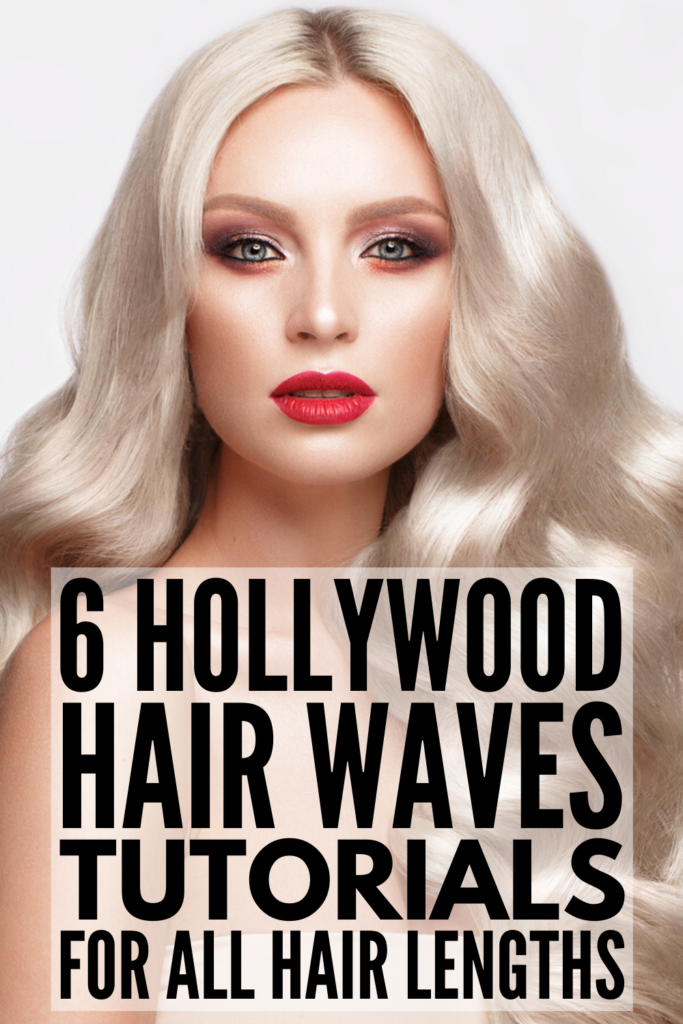 6 Hollywood Waves Tutorials for All Hair Lengths | If you want to know how to do classic vintage waves on your own hair, these tips and tutorials are for you! Whether you have short, medium, or long hair, retro waves are the perfect way to add a little glamour to your look. If you're looking for wedding hairstyles for the bride (or bridal party), need an easy 'do for a formal event, or just want to add a little style for a date night, these step-by-step tutorials are for you!