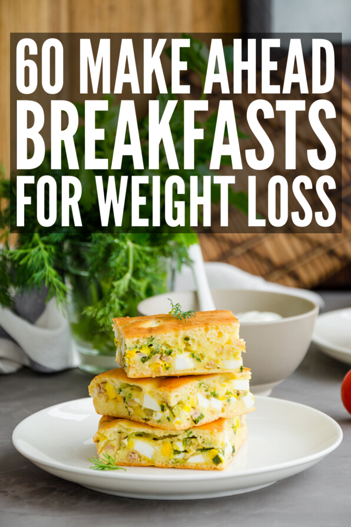 60 Healthy Make Ahead Breakfast Ideas for Weight Loss | From breakfast bowls, sandwiches, and breakfast casserole ideas to freeze, to overnight oats, smoothies, and muffins, these meal prep breakfast recipes are easy, healthy and delicious! Whether you follow a high protein, low carb keto diet, eat only low calories foods, or you follow a more specific diet (paleo, Whole30, vegetarian, or vegan), there's a recipe here for you! Enjoy these at home or on-the-go!