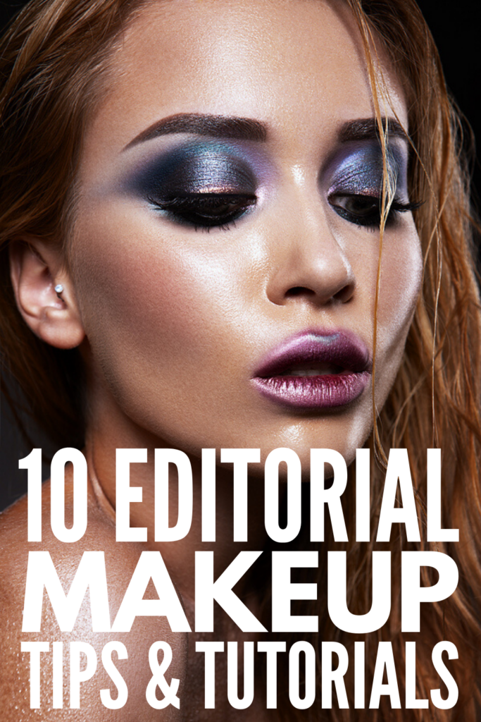 5 Step-by-Step Editorial Makeup Looks To Try | Bold meets beautiful with these fashion forward editorial makeup trends! If you love creative makeup styles, these step by step makeup tutorials are for you. You'll learn new makeup application techniques, including how to apply floating eyeliner, neon eyeshadow, and all over gloss for a dewy makeup look. And let's not forget about adding pops of glitter! Get ready to rock blue, pink, red, green, and yellow makeup with a hint of gold and silver!