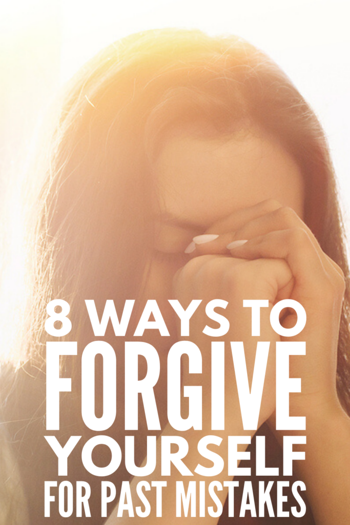 How to Forgive Yourself For Past Mistakes | If you're dealing with feelings of guilt and shame over something you've said or done, and you're in need of self-forgiveness tips to help you move forward, this post is a great place to start. There are so many great forgiveness quotes and affirmations that can help you feel empowered and in control in the moment, but these tips break down the process of learning to forgive yourself once and for all so you can let go and find peace.