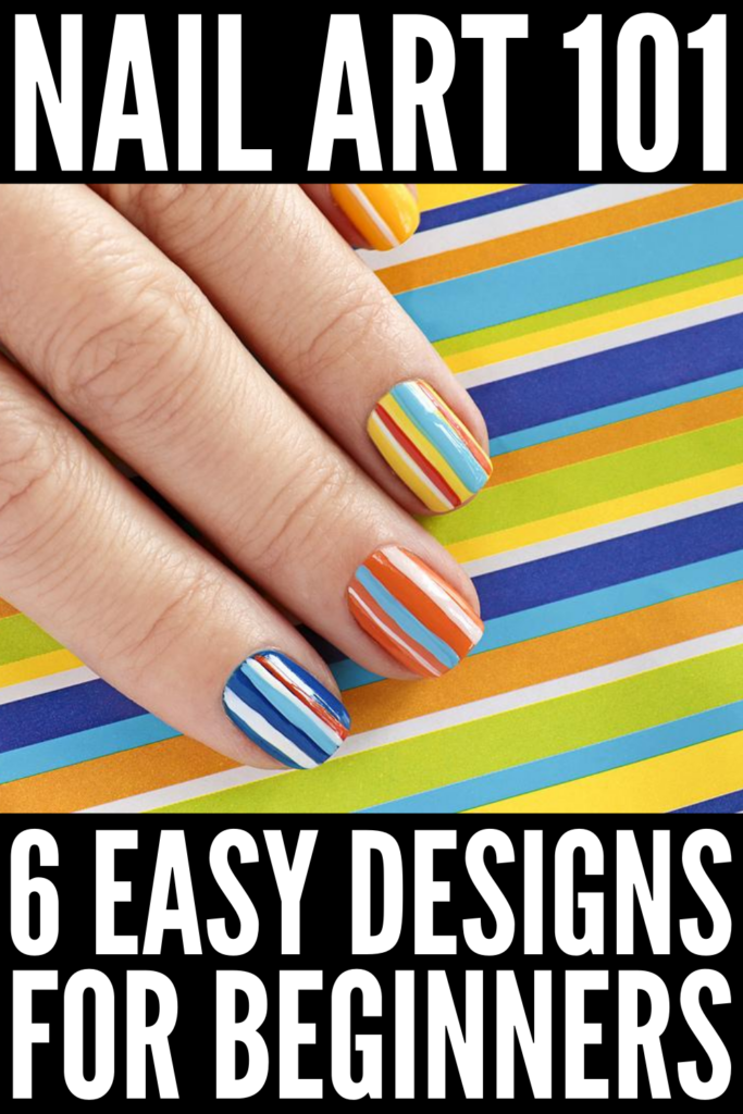 6 Nail Art Design Tutorials for Beginners | If you're looking for easy step-by-step videos to teach you how to create cute and fun free hand designs on your nails, we've curated 6 ideas to inspire you! Whether you have short plain nails, beautiful gel nails, or long acrylic nails, these nail art designs are perfect for every season - for spring, summer, fall, and for winter. We've included a list of tools you need to create these looks at home plus simple hacks for beautiful nails every time!
