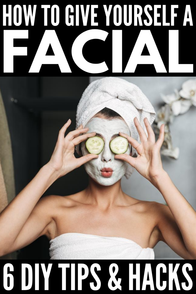 How to Give Yourself a Facial | If you want to know how to give yourself an at home facial, this post is a great place to start. We've included the best budget-friendly facial products and tools to invest in (think: steaming, masks, scrubs, peels, and more) as well as a breakdown of all the steps you need to take to make your DIY facial a success. Facials should be part of your regular skin care routine, and if you can't make it to a spa, these ideas will help you create your own home spa!