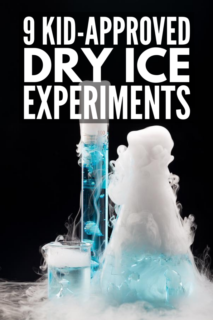 9 Dry Ice Experiments for Kids | If you're looking for cool science experiments and projects you can do with your children and students at home or in the classroom, these dry ice activities are easy to setup, and oh so cool! From how to make dry ice bubbles to simple and fun dry ice rockets, these activities make great party ideas for the Mad Scientists in your life! We've also included a few Halloween activities, which offer the perfect way to get kids excited about chemistry!