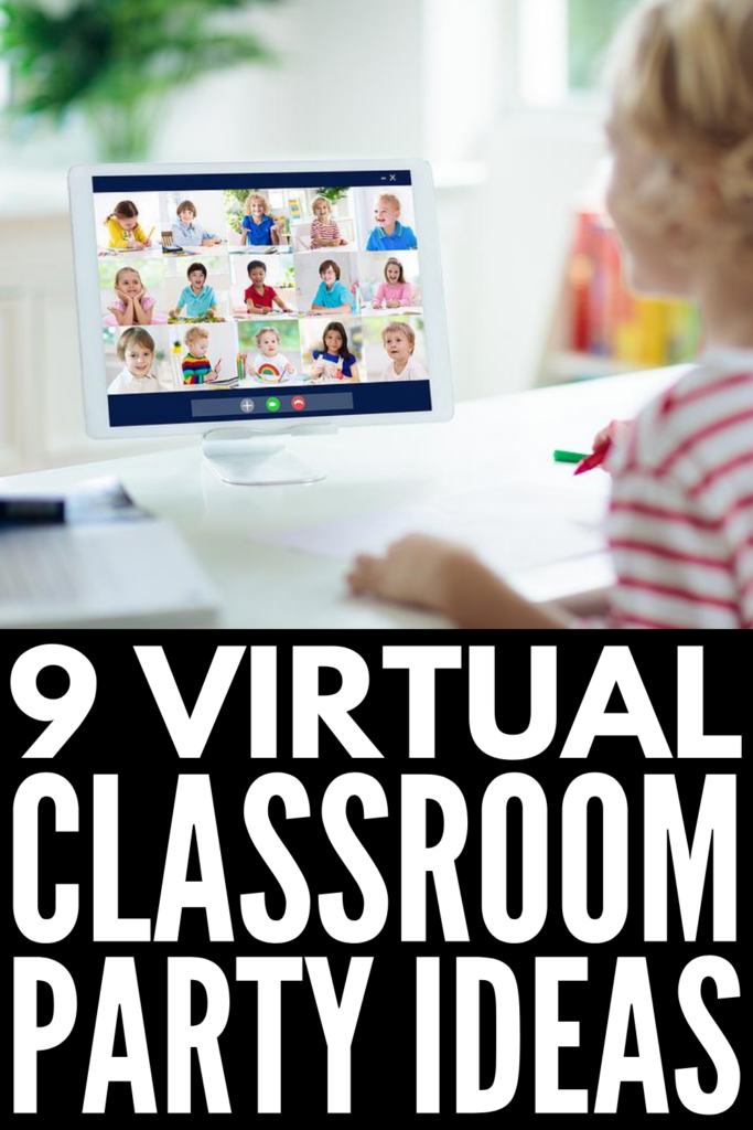 9 Virtual Classroom Party Ideas for Kids | From Halloween, to Christmas, to birthday parties, to graduation, to end of year class parties, there are lots of opportunities to celebrate as a class during the school year. If you're looking for fun ideas to make holidays and celebrations special for students while teaching online, this post has tons of ideas for kids of all ages - even for teens! From how to host a virtual party to our favorite Zoom games, these ideas compliment distance learning!