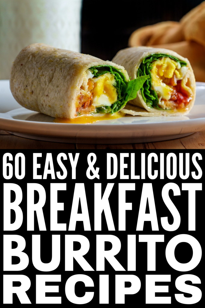 60 Breakfast Burrito Recipes | If you're looking for easy make ahead breakfast ideas for busy mornings that you can grab and go when you're don't have a ton of time, breakfast burritos are a great choice! There are so many healthy meal prep recipes to choose from for every dietary need and palate, and many of them are freezer friendly. Whether you're vegan or vegetarian, follow a low carb, keto, and/or low calorie diet, there's a recipe here for you!