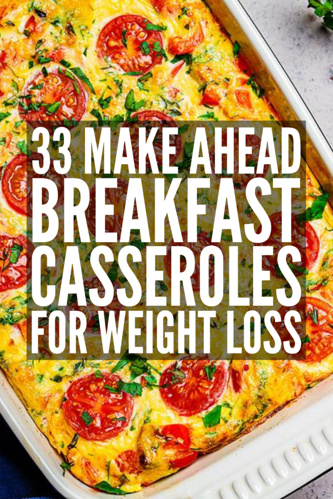 33 Make Ahead Breakfast Casserole Recipes | If you're looking for easy and healthy breakfast ideas you can meal prep ahead of time to ensure you stick with your healthy eating goals on even your busiest days, this post is for you! We've curated the best breakfast casseroles, with options for every palate and dietary need. From low carb to low calorie, vegan to vegetarian, gluten free to dairy free, sausage to bacon to ham and more, there are tons of ideas, with overnight and crockpot recipes!