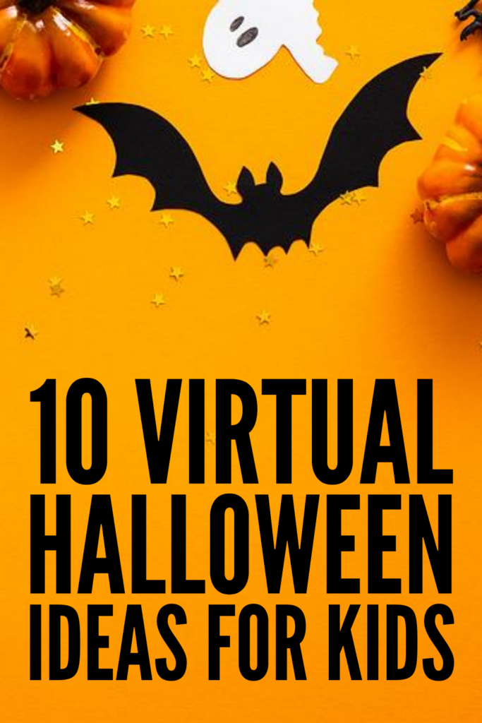 10 Virtual Halloween Games and Activities for Kids | Whether you're hosting a virtual Halloween party for your kids and their BFFs, or you're organizing a virtual classroom party for your students, we've got lots of great party ideas to help make it extra special. While traditional costume parades and trick-or-treating may not be possible (thank goodness for Halloween costumes with masks!), these interactive virtual party games for kids are easy, fun, and perfect for Zoom and FaceTime!