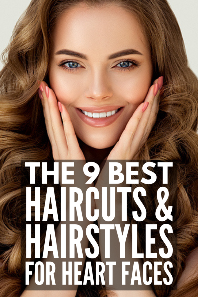 9 Best Haircuts and Hairstyles for Heart Shaped Faces | If you want to know what the best heart shaped face hairstyles are, this post is for you! Whether you have short, medium, or long hair, we've got all the tips and hacks you need to ensure your hairdo accentuates your best features. Should you get a bob or lob? Do blunt bangs work? Should you add layers to your hair? Does straight hair look best, or is wavy or curly better? Click to find out!