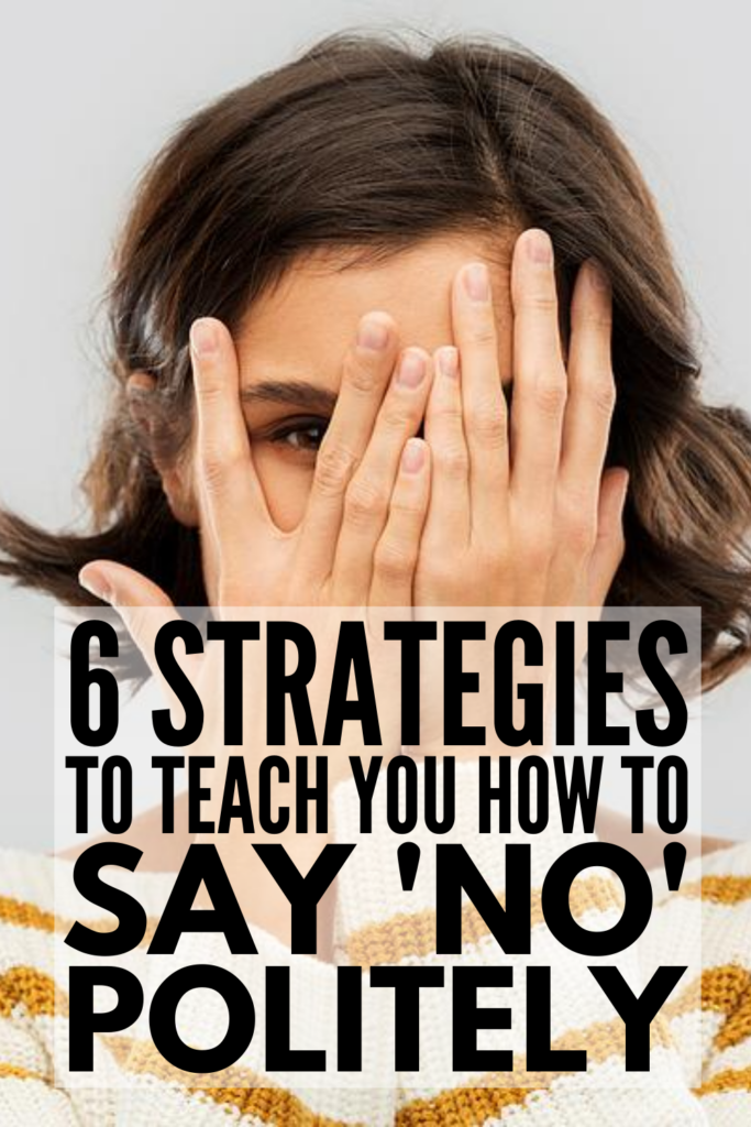 How To Say No Politely | Are you a people pleaser? Do you have a habit of saying 'yes' to things, even when you really want to say 'no'? This post will teach you how to say no nicely, whether it's to a guy or girl you like, to your boss or colleagues at work, to family and friends, to food (especially to sugar, to alcohol, and to junk food!) that's offered during celebrations, and to people in all areas of your life. Learn to put these ideas into practice so you can live life authentically!