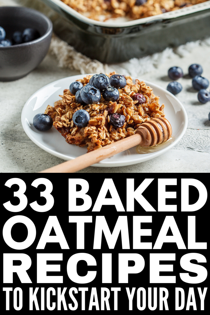 33 Baked Oatmeal Recipes | If you're looking for healthy breakfast ideas that will make you feel full, support your weight loss goals, and that you can make ahead of time as part of your weekly meal prep routine, this post is for you! Whether you like to eat a low carb or low calorie diet, we've curated tons of ideas that are easy to make, high in protein, and taste delicious. From banana, strawberry, peach, and blueberry, to peanut butter and chocolate, these are delicious!
