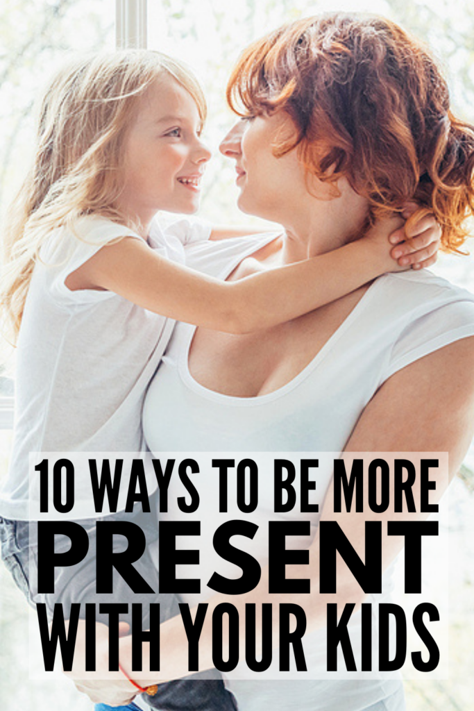 How To Be a Present Mom | Whether you're a mom to toddlers, school-aged kids, or to tweens or teenagers, it can be hard finding a balance between parenting, your career, and managing a home. If you want to know how to be a better mom, these present parenting tips will inspire you! These positive parenting solutions take time and discipline, but they will teach you how to be a patient parent, allowing you to connect with your kids and give them the attention they need and deserve.
