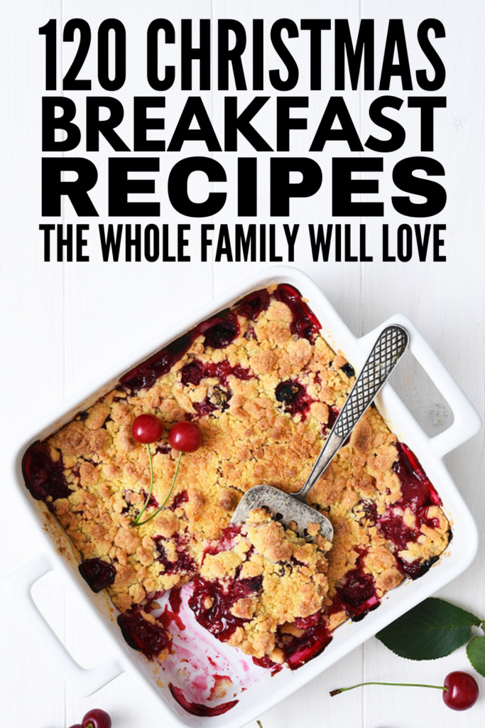 120 Christmas Breakfast Ideas | Whether you're looking for make ahead Christmas breakfast recipes, fun foods for kids to nosh on while they open gifts, healthy brunch ideas, and/or easy recipes for a crowd, this post has it all! From hash brown breakfast casseroles, to overnight crockpot cinnamon rolls, to vegan breakfast tacos, these recipes are designed to make Christmas mornings simple and easy so you can be fully present with your family and friends.