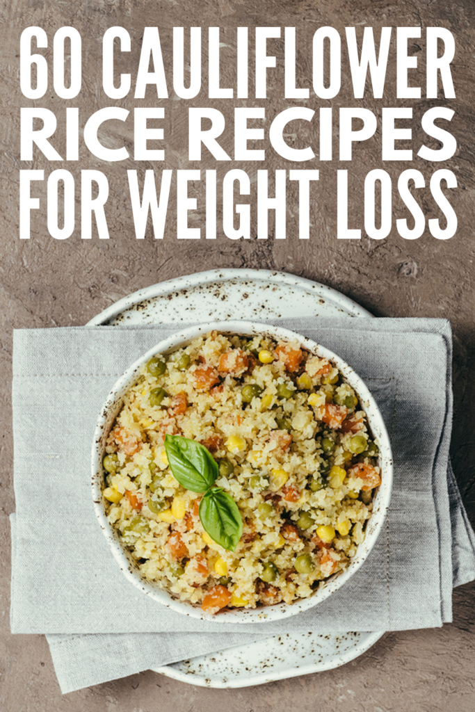60 Cauliflower Rice Recipes | If you want to know how to make cauliflower rice, this post has all the basics, along with some of the best healthy, easy to make recipes you'll wish you tried sooner! From simple cheesy recipes, to low carb keto cauliflower rice, to spicy Mexican ideas, to flavorful Asian fried cauliflower rice, to vegan recipes chock full of plant-based protein, you can meal prep many of these so you have a healthy and filling meal on even your busiest days!