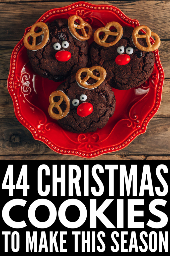 44 Christmas Cookie Recipes You'll Wish You Tried Sooner | Whether you're kicking off the holiday with a cookie exchange at work, or getting a head start on your Christmas baking, we've curated the best Christmas cookie recipes for every palate and dietary need! From traditional to healthy, gluten-free to vegan, we've also included cookie recipes kids can make (think: easy sugar cookies, simple cut out cookies, and fun no bake peanut butter cookies)!