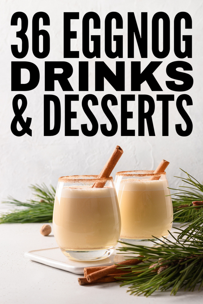 36 Eggnog Recipes and Desserts | If you're looking for homemade eggnog recipes, you're in luck! We've curated the best classic eggnog recipes, along with tons of other ideas, including homemade non alcoholic eggnog, alcoholic options, and tons of eggnog desserts that will inspire you to do some baking over the holidays! Whether you're looking healthy, low carb keto recipes, or prefer your eggnog spiked and boozy (like me!), we've also included dairy free and eggless recipes!