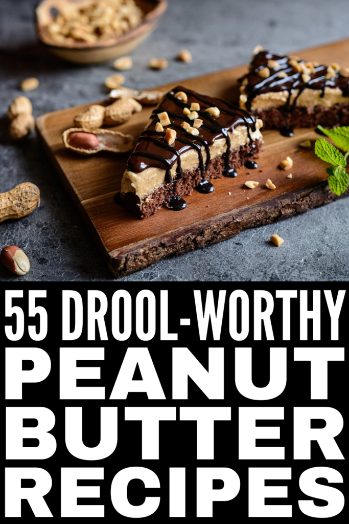 55 Drool-Worthy Peanut Butter Recipes | Whether you're looking for easy, healthy, low carb, keto-friendly peanut butter recipes, or decadent peanut butter desserts that include yummy ingredients like Nutella and chocolate, this post has it all! We've curated tons of ideas, including peanut butter cookies, peanut butter pie, no bake peanut butter balls, peanut butter rice krispie treats, and chocolate peanut butter recipes that will not disappoint!