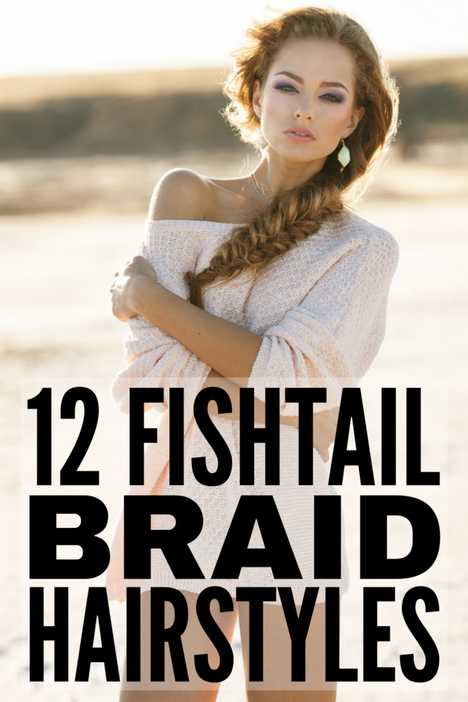 12 Fishtail Braid Hairstyles for All Hair Lengths | If you're looking for step by step tutorials to teach you how to do a fishtail braid, this post is for you! We've included a mix of ideas for short, medium, and long hair, including side, half-up, French, and Dutch fishtail braids. The step by step videos are easy to follow, and these looks are perfect for second day hair and make great prom and wedding hairstyles! They work for school and for work, and we've included fishtail braids for kids!