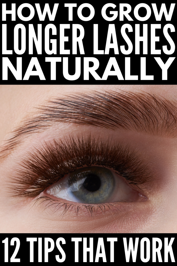How to Grow Longer Eyelashes | If you want to know how to make your lashes thicker and more voluminous without falsies or extensions, this post is for you! You'll learn how to naturally grow your lashes, along with natural DIY growth remedies made using ingredients you already have at home, like vaseline and coconut oil. Not into home remedies? No worries! We've also linked to the best store-bought eyelash serums to elevate your lashes and make your eyes pop!