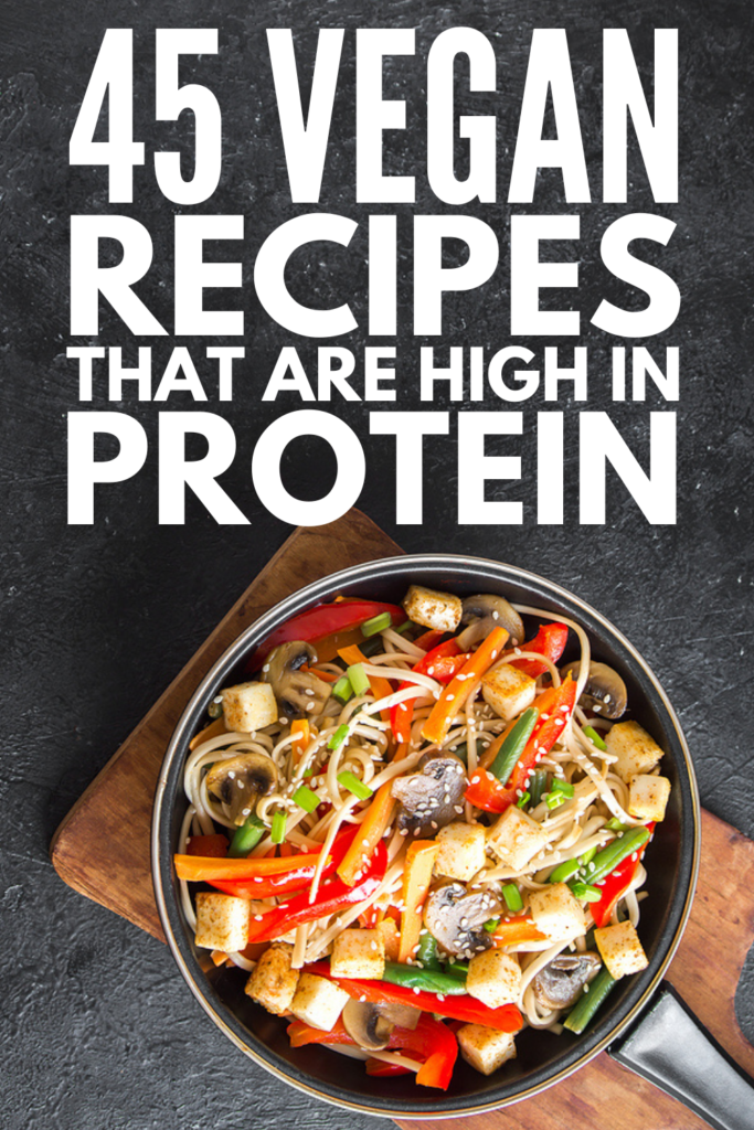 45 High Protein Vegan Meals | If you're looking for simple and quick vegan recipes that are easy to prep, we've curated the best vegan recipes for breakfast, lunch, and dinner that are high in plant-based protein to help you feel full for longer. With tons of low carb and low calorie options to choose from, these recipes are healthy and delicious. Clean eating has never tasted so good!