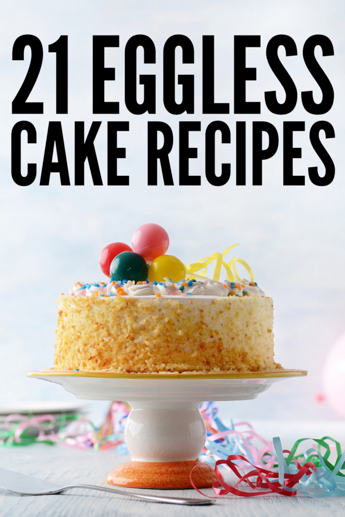 21 Eggless Cake Recipes | If you and/or your kids are allergic to eggs like I am, and you're on the hunt for simple and easy homemade egg free cake recipes, this post is just what you need! We've curated the best of the best, including a range of different types of cakes for every palate and dietary need. Whether you prefer something simple like vanilla or chocolate cake, or want something extravagant like red velvet, banana, or mango cake, these recipes are healthy, easy, moist, and delicious!