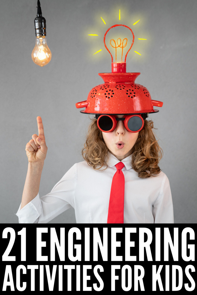 21 Engineering Activities for Kids | If you're looking fun, easy, and creative ways to get your kids or students excited about STEM learning, these engineering focused STEM challenges, projects, and activities are a great place to start! Whether you're looking for an excuse to learn outside in the spring or summer, need indoor activities for the classroom for the fall and winter months, these ideas are an awesome way to compliment learning at home too!