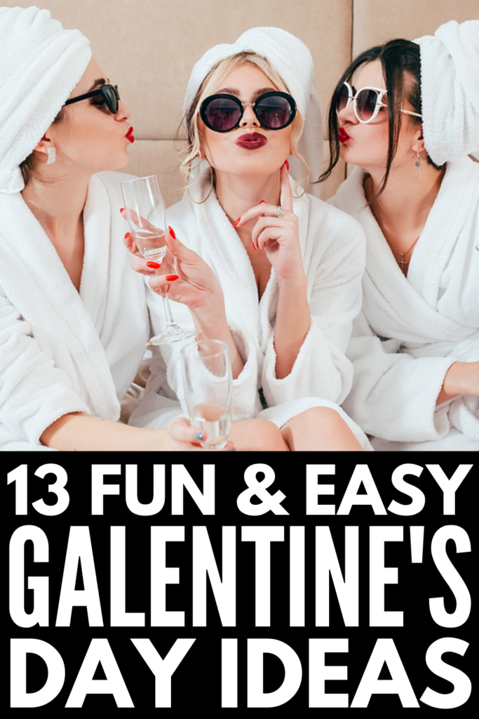 13 Galentine's Day Ideas We Love   If you're looking for fun and easy ways to honor and celebrate your lady friends on February 13th, this collection of cute and unique Galentine's Day ideas will inspire you! Whether you're looking for DIY gift ideas for your BFF to show how much she means to you, throwing a Galentine's Day party and need games and activities to keep everyone entertained, or you're on the hunt for experience ideas (spa day? wine tasting?), we've got you covered!