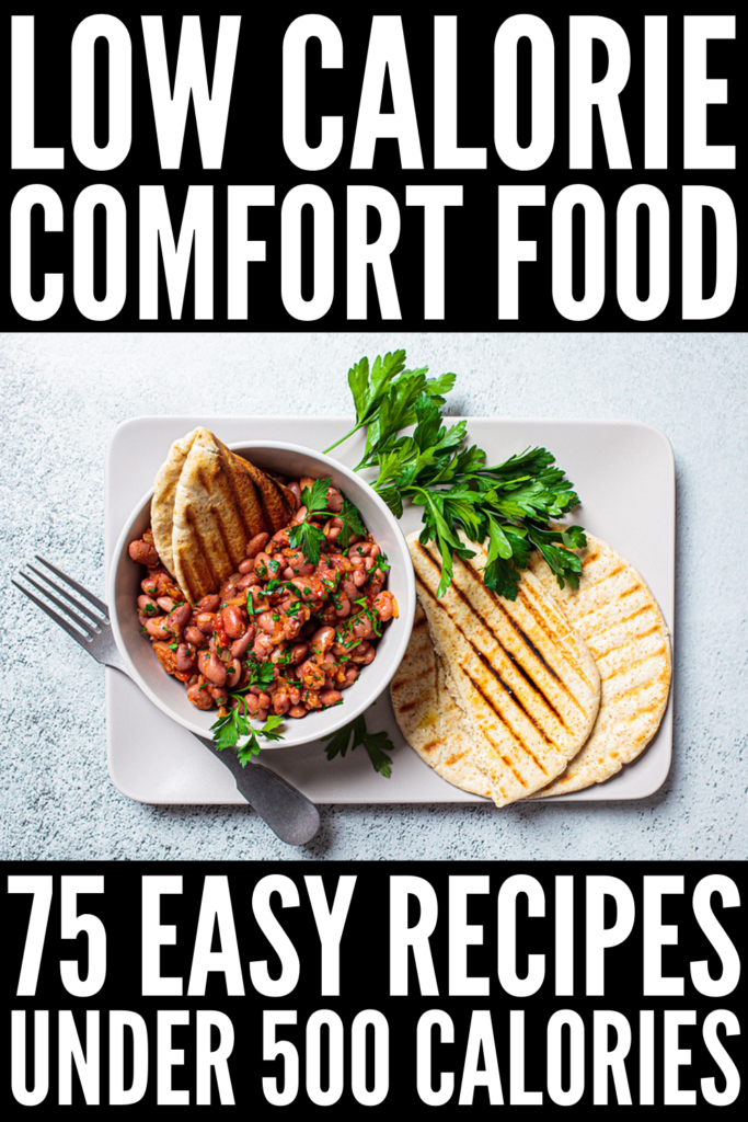 75 Comfort Food Recipes Under 500 Calories | If you're craving comfort food without the guilt, this post is for you! We've curated the best healthy, low calorie comfort food recipes, allowing you to enjoy your favorite meals without sabotaging your weight loss goals. From vegan and vegetarian comfort foods loaded with plant-based protein, to crockpot and casserole dishes that are easy to whip up, to our favorite guilt-free desserts, these comfort food ideas will not disappoint!