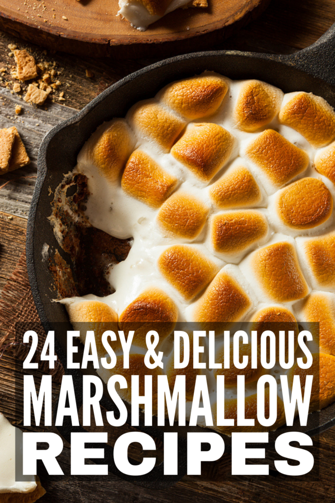 24 Ooey Gooey Marshmallow Recipes We Love   If you have a bag (or 3) of marshmallows in your kitchen pantry and you're on the hunt for easy desserts you can make with them, this post has tons of delicious ideas you'll wish you tried sooner! Want to make homemade marshmallows? We've also included corn syrup free, sugar free, and gluten free recipes, along with the best tips and tricks. From marshmallow brownies, to whoopie pies, to s'mores cookies, these desserts are where it's at!