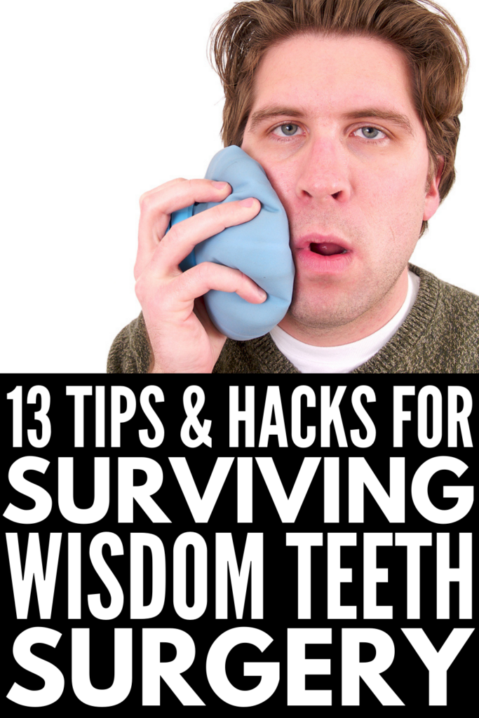 Wisdom Teeth Recovery Tips | Oral surgery is never fun, but wisdom teeth extraction is sort of a coming of age ritual most of us have to endure. Whether your experience was quick and painless and you just need a list of soft foods to eat and tips to reduce swelling as you recover, or you had impacted wisdom teeth and need day-by-day life hacks to help with pain and sleeping, this post has it all! From ice packs, to tea bag compresses, to the best essential oils and more, these ideas work!