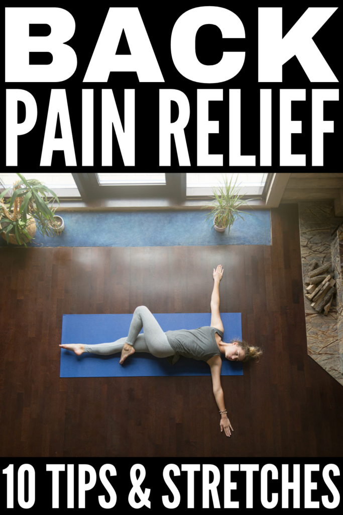 5 Upper Back Pain Relief Tips & Exercises | If you're looking for upper back pain remedies for fast relief, this post is a great place to start! We're sharing common causes of back pain, along with pain relief tips, stretching exercises, yoga poses, sleeping hacks, and massage techniques to help reduce neck and upper back pain. Whether you have a stiff neck from hunching over a computer all day, upper back pain due to poor posture, or you've strained a muscle, these tips work!