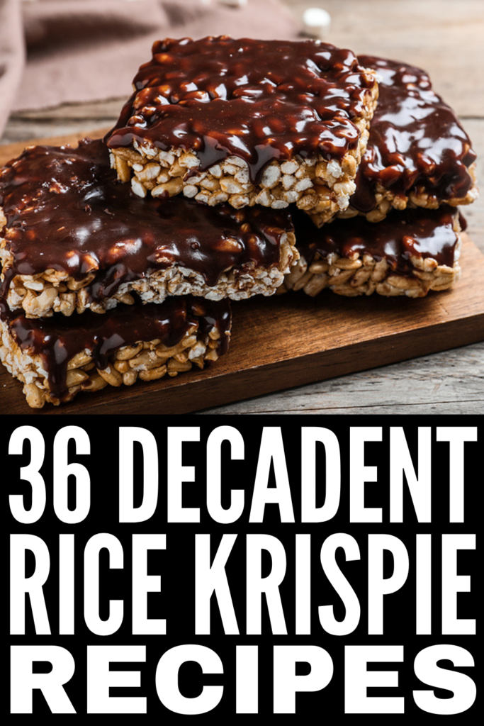 36 Easy Rice Krispie Recipes | If you're looking for simple Rice Krispie recipes you can make with your kids, you're in for a treat! Whether you prefer original Rice Krispie squares, need a healthy dessert upgrade that won't blow your daily macros, or want to go balls to the wall with chocolate and/or peanut butter Rice Krispie treats, we have a recipe for you! From cookies and cream, to salted caramel, to cookie dough, to peanut butter chocolate crunch bars there's something here for everyone!