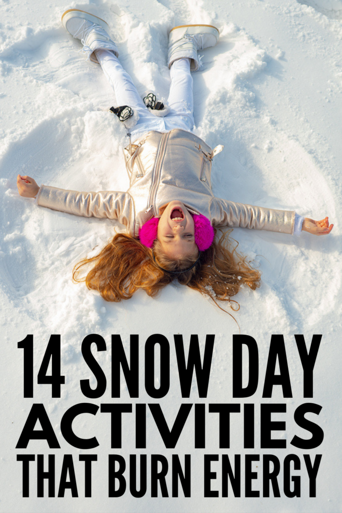 14 Outdoor Snow Day Activities for Kids | While it can be tempting to stay indoors all day long on bad weather days, anyone with young kids knows that being cooped up inside for hours on end can be a recipe for disaster. If schools are closed due to snow and you're looking for things to do outside to help your kids burn off energy, these outdoor winter activities will inspire you! This list of simple and easy ideas has options for toddlers, kindergarteners, and kids in elementary school.