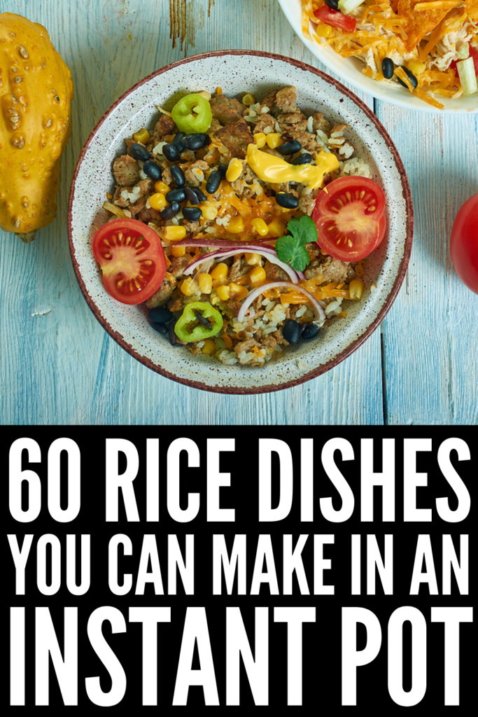 60 Simple Instant Pot Rice Recipes | If you're looking for quick and easy rice upgrades you can make in your instant pot on busy weeknights, this post is for you! Whether you prefer white rice, brown rice, basmati rice, or jasmine rice, we've curated the best of the best. From healthy vegan and vegetarian options, to spicy Mexican, Indian, and Asian rice recipes, to simple beef and chicken dishes, we've got something for every palate and dietary need!