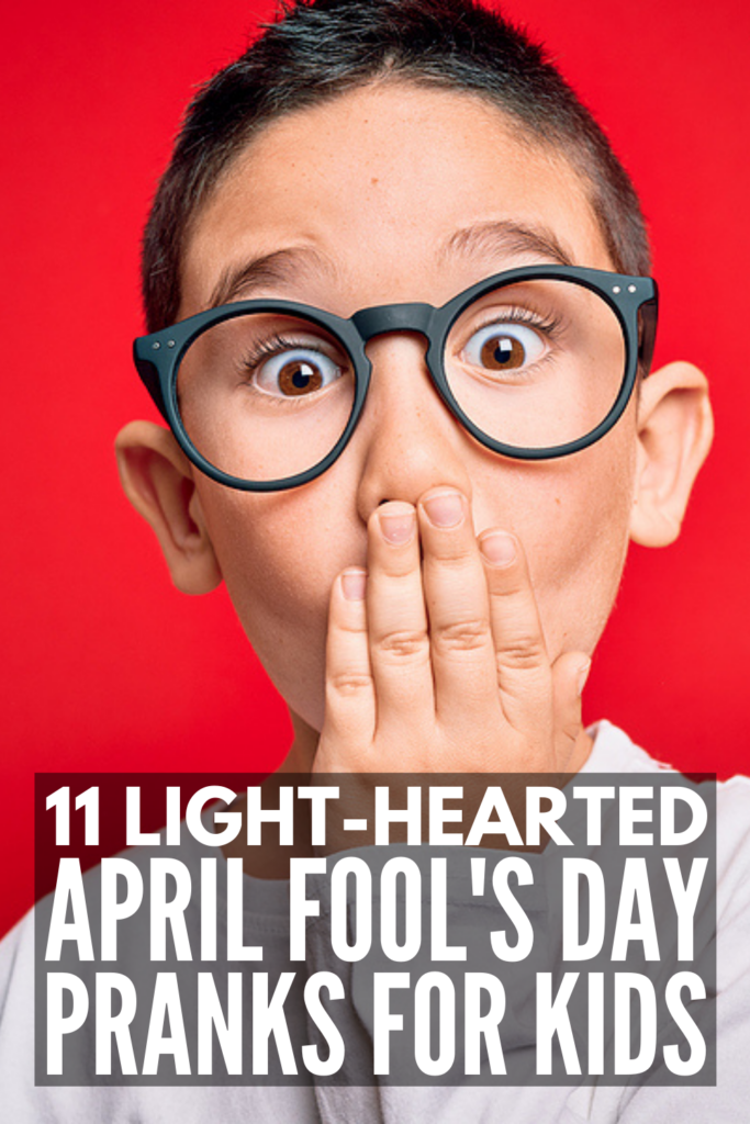 11 April Fool's Day Pranks for Kids | If you're looking for fun and easy practical jokes to play on your kids or students - or for your kids or students to play on their parents, siblings, friends, or teachers - this post has lots of great ideas to inspire you! Most of these work as last minute pranks, and they offer a bit of light-hearted humor without being mean-spirited. We have options for groups and for families, and you may even use some of these for work - they are really funny!